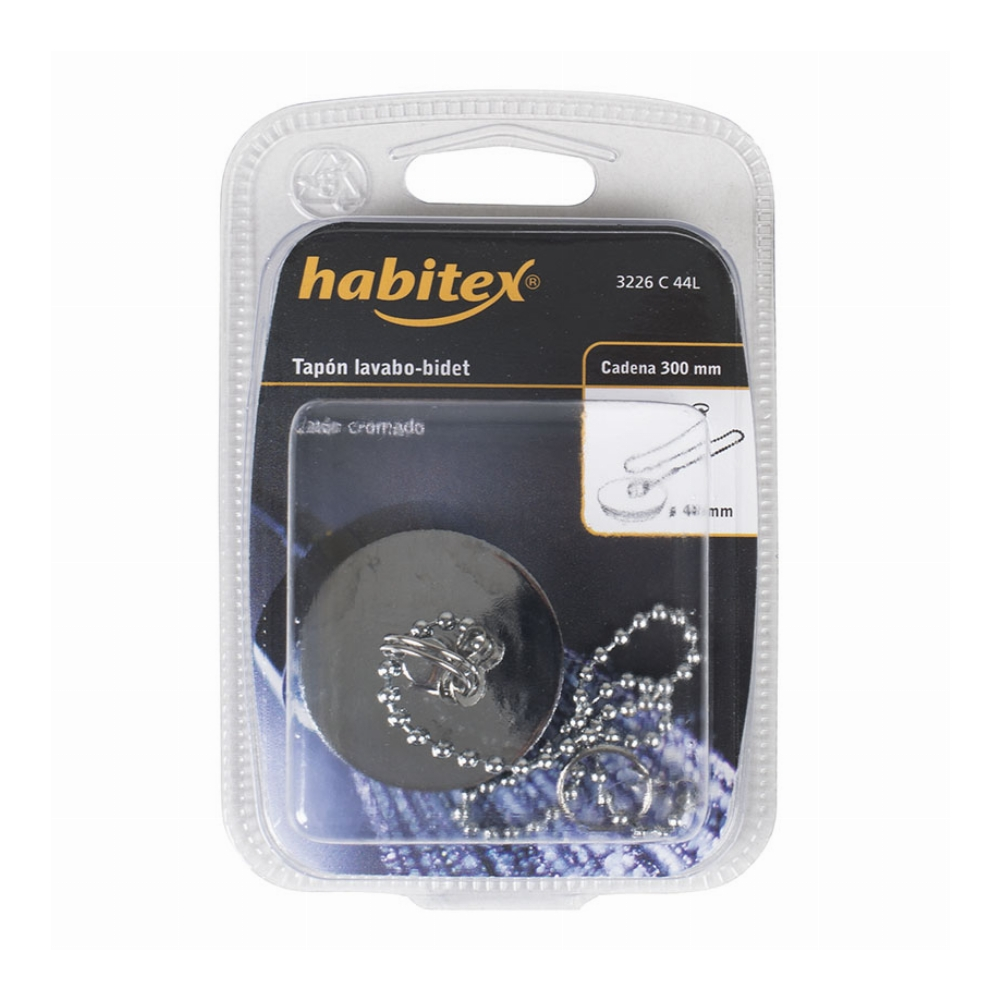Habitex 3226C44 Tapon Lavabo Con Chapa-Anil 44Mm