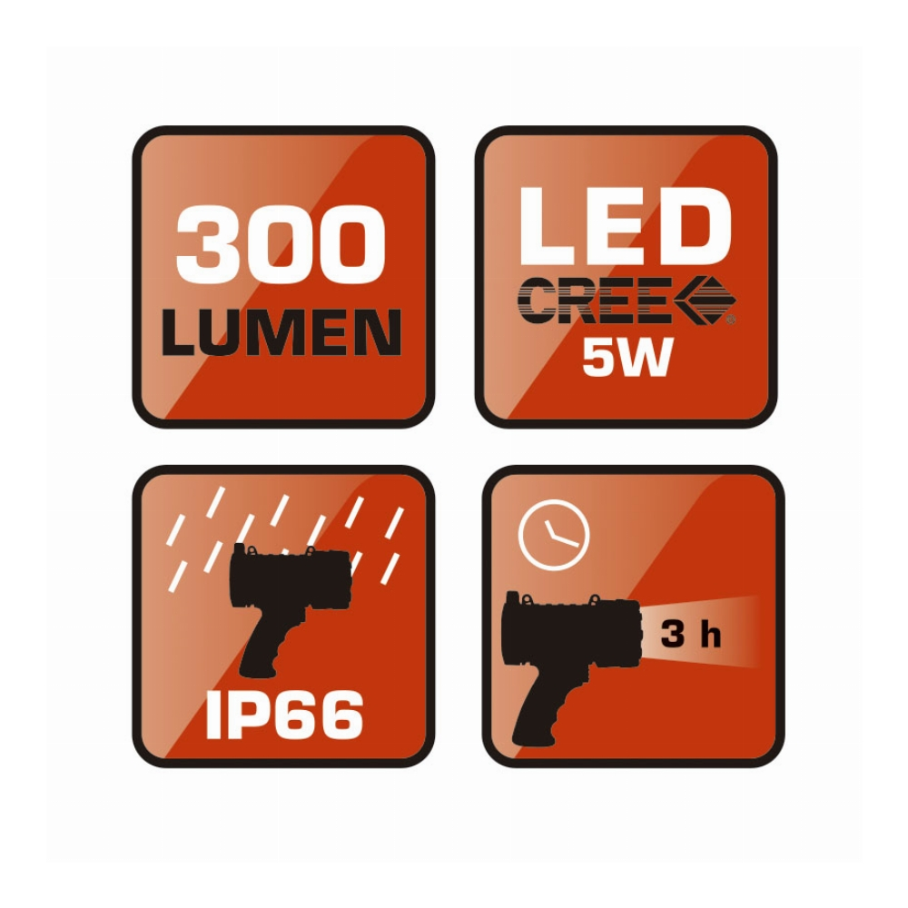 LINTERNA/FOCO LED RATIO SPOTLIGHT F300P