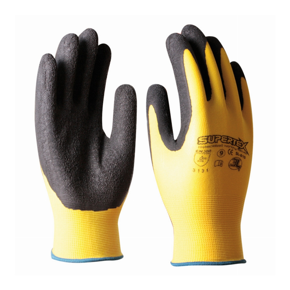 GUANTES NYLON / LATEX NATURAL 3L 10 SUPERTEX
