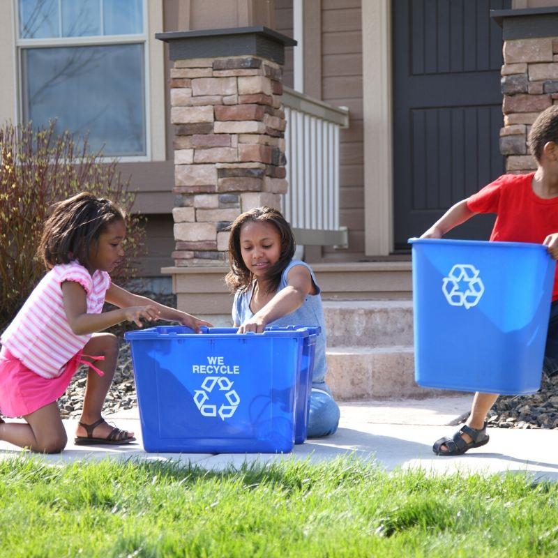 reciclar con niños en casa
