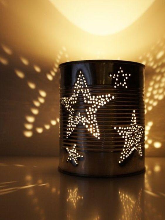 Decoración navideña casera con lata
