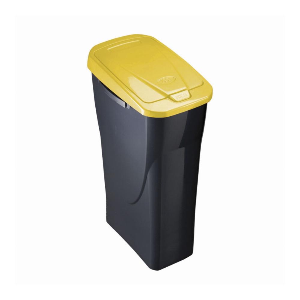 cubo amarillo para reciclar
